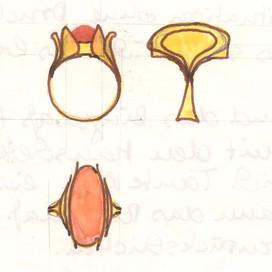 Ring mit Feueropal