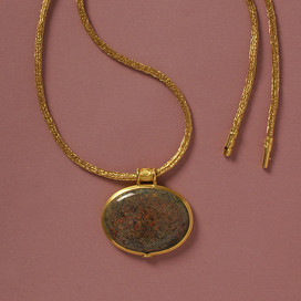 Andamooka-Opal, 900/000-er Gold