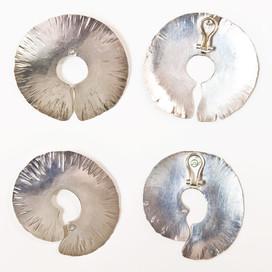 Silber geschmiedet, Stecker-Clip-Mechanik