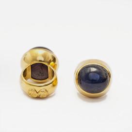 Sternrubin Sternsaphir, 900-Gold