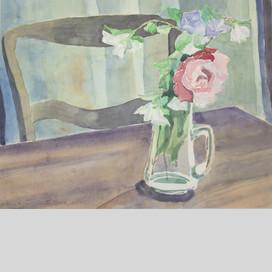 Blumen-Stillleben mit Rose