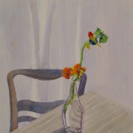 Blumen-Stillleben mit Kapuzinerkresse