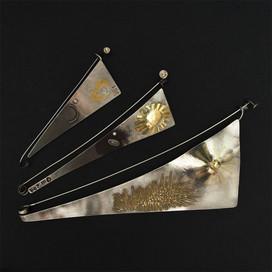 Gold Silber Edelstahl Mondstein Brillanten